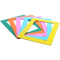 Wholesale Bright Color PVC Magnetic Fridge Picture Frames Photo Magnets for Refrigerator Family Photos and Memories Frames Inch