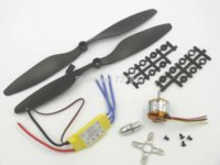 antenna rotor motor - 4x KV Outrunner Motor x HP A ESC x propeller Black Quad Rotor