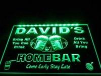 bar menu board - DZ001 Home Bar Beer Family Name LED Neon Light Sign light box menu board box drawer
