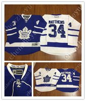 authentic polyester jerseys - 2016 New Men s Toronto Maple Leafs Ice Hockey Jerseys Cheap Auston Matthews blue white Jersey Authentic Stitched Jerseys Mix Order