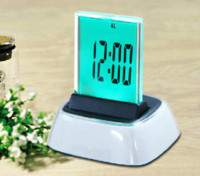 Wholesale Fashion high tech LED dispaly digital table desk clock multi color wall alarm clock wall alarm clock desk alarm clock