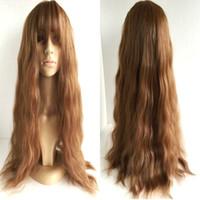 beautiful ladies body - 65cm Long Light Brown Beautiful lolita wig Anime Wig Cosplay Party New Fashion Women Lady Long Curly Wavy Hair Full Wigs
