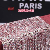 Wholesale hot ss ss AB crystal rhinestone trims close chain meters mm mm mix color AB Cellphone accessories