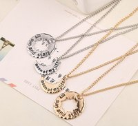 Wholesale Ice and Fire Necklace My Sun and Stars Letters Moon Star Pendant Gold Silver Choker Chain Jewelry Gift