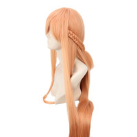 asuna wig - Cosplay Party Costume Wig for Sword Art Online Asuna Yuuki Long Orange