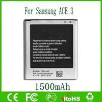 ace standards - B100AE Cellphone Battery Li ion Standard Mobile Batteries For Samsung Galaxy ACE S7278 GT S7275 mAh Free Ship
