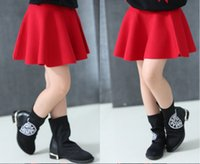 Wholesale Fish tail Classic School Teenage Kids Girl Skirt thread Knitted Solid color children girls Mini skirt