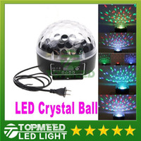 Wholesale DHL Mini Digital LED RGB Crystal Magic Ball Effect Light DMX512 Disco DJ Stage Lighting Voice activated light lamp