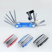 Wholesale 11 in Bike Repair Tools Folding MTB Cycling Screwer Screwdriver Bike Chain Cutter Hex Wrench Alen Key