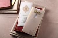 Wholesale chinese unique wed invitation card custom or blank elegant wed card invitation free ship