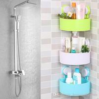 Wholesale 2016 New Usefull Quality Cute Bathroom Corner Storage Rack Organizer Shower Wall Shelf with Suction Cup