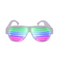 Wholesale LED Glow Sound Control Glasses Rechargeable Multicolored Light Flashing Musical Shades Activated Club Bar Dancing Hall Party Disco DHL L1445