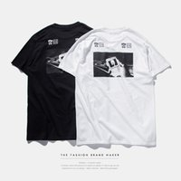 animal culture - INF men s summer spot Europe Street tide brand culture male short sleeved T shirt printing letters Spoof