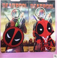 anime girl mask - 300pcs CCA4315 High Quality Deadpool Keychains Anime Cartoon X men Deadpool Figure Mask PVC Pendant Keychain Metal Stainless Steel Key Ring