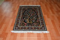 apartment stocks - Luxury apartment corridor silk carpet in bulk stock persian wall rugs handmade gray rug