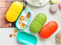 Wholesale High Quality Mini Slots Cute Pill Box Plastic Storage Case Shell Portable Pill Case Free DHL
