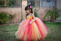 baby prop shop - Rainbow Flower Girl Tutu Dress Cute Baby Girl Birthday Photography props Party Dresses with Flower Headband Size T Y promotion new shop