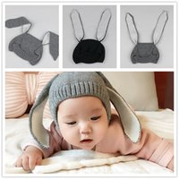 Unisex Winter Crochet Hats Ins Oeuf Nyc Baby Boys Girl's Cap Lovely Rabbit Long Ear Hat Knitted Crochet Infant Headgear Soft Warm New Arrival Autumn Winter