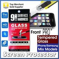 Mejor Ultra Thin PRO + Pantalla Protector de vidrio templado de alta calidad para el iPhone 7 6S Plus Zmáx Pro G360 ON5 J7 2016 LG K7 con el paquete al por menor