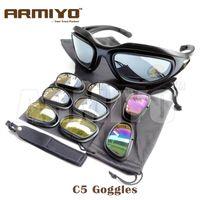 Wholesale Armiyo Polarized C5 Desert UV400 Sunglasses Windproof Goggles Eye Protective Cycling Eyewear Fit Fishing Hunting