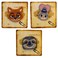 Wholesale PrettyBaby Zootopia cartoon children Brooch high quality Judy Nick Flash designs fabrics kids badges
