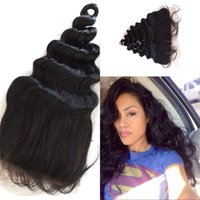 Wholesale Lace Frontals Brazilian Human Hair Loose Wave Full Lace Frontal With Baby Hair From Ear to Ear