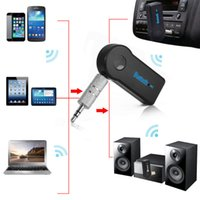 Wholesale DHL Bluetooth car kit car Audio Music Receiver Universal mm Adapter AUX Streaming Car Kit Handsfree with Mic For Phone MP3