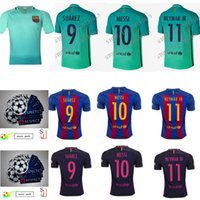 barcelona club football - Barcelona MESSI jersey A INIESTA SUAREZ SERGIO PIQUE I RAKITIC NEYMAR JR Shirt Club World Cup