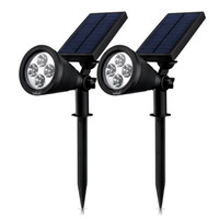 Wholesale Solar Lights Solar Powered Spotlight in Adjustable LED In Ground Light Landscape Wall Light Waterproof Security Light for Outdoor Yard