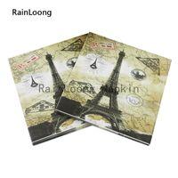 beverage towers - RainLoong Beverage Eiffel Tower Paper Napkin Paris Festive Printed Serviettes Tissues Decoupage Table Decoration cm