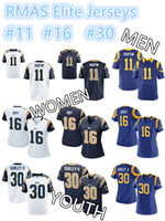 austin homes - 2016 LA Rams AUSTIN GOFF GURLEY II Authentic Men Women Youth Elite Game Home Away Football Jerseys High Quality Stitched Wear