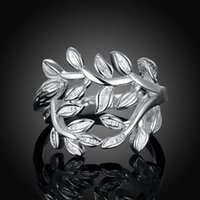 african jewelries - Fashion Leaf Shape Branch Design Rings Women Jewelry For Girls Silver Ring Female Bohemian Christmas Gift Cheap Jewelries RG