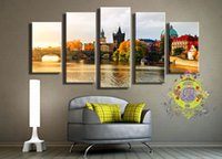 Cheap Painting Canvas Resim Tuval 5 Panel Big Canvas Art Modern Venice Photos of Ocean Wall of The Sitting Room Decorate Household Adornment Mural