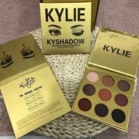 Wholesale 2016 New Kylie Limited Birthday Edition Cosmetics Bronze Eyeshadow palette colros KyShadow Palette Gold packing