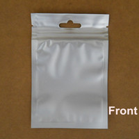 Wholesale 8 cm Black Aluminum Foil Clear Frosted Plastic Resealable Valve Zipper Pouch Poly Packaging Bag With Hang Hole