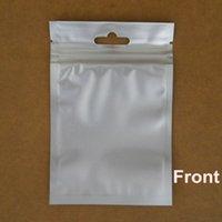 Precio de Bolsas de embalaje reutilizables-8.5 * 13cm Negro Papel de aluminio / Borrar helado de plástico con cierre de válvulas bolsa de la cremallera 50pcs / lot Poli que empaqueta con agujero de la caída
