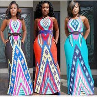 Wholesale Fashion Summer Dress Bohemian Women Traditional Print African Dashiki Bodycon Dress Sexy Short Sleeve Slim Dress Plus Size CCA4711