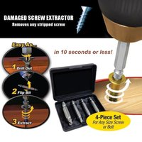 Wholesale 4pcs set Kit Double Side Damaged Screw Extractor Out Remover Bolt Stud Tool MAC_018