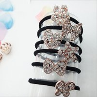 Wholesale Korean style crystal alloy Rubber band popular fashion hair rope hair ring direct from manufacturer