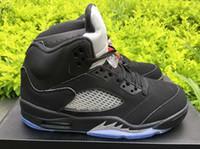 silk stretch satin - Drop Shipping Retro OG Black Metallic Mens Basketball Sport Shoes Size Ship With Box