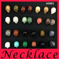 turquoise beads - fashion jewelry Can be equipped with rope chain DIY mm Big human skull Natural stone pendant Loose Beads charm mens bracelets necklace