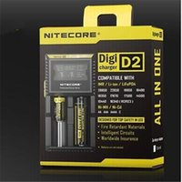 Wholesale Universal nitecore d2 Digicharger LCD Display intellicharger Smart Charger for IMR Li ion Ni MH Ni Cd Rechargeable Battery