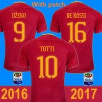 Wholesale New Roman Jersey Red white DZEKO Soccer SHIRT maillots de foot TOTTI Camisetas de Futbol