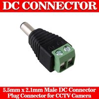 Wholesale 2 x mm bnc connector DC Male Adapter Surveillance System Power Supply for CCTV IP Camera cctv accessories