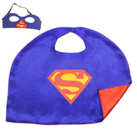 Wholesale New L50 W70 CM Kids Superhero Superman Capes and Masks Great For Child Play Date to Fun and Party Costumes and Gifts