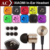 Wholesale 3 mm Metal Xiaomi piston Headphone Universal Earphone Noise Cancelling In Ear Headset For iPhone Samsung Xiaomi HTC Huawei Smart Cellphone