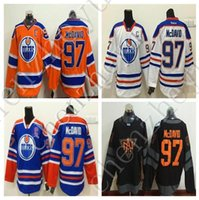 best black - 2016 North America Ice Hockey Jerseys Black aboard Oiler captain C Connor McDavid Jersey Men Fashion Best All Stitched Quality mix orders