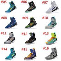 Wholesale Khaki Colour Sports Shoes - 18 Colours (With Box) Wholesale Kobe KB 9 IX Elite Black Mamba Blackout Christmas High Men Basketball Sport Shoes