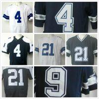 Wholesale 2016 New Ezekiel Elliott Dak Prescott Men Dallas Jerseys Navy Blue Elite sport Football shirt