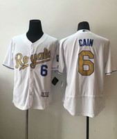Wholesale 2016 new hot Kansas City Royals jersey Lorenzo Cain Majestic White World Series Champions Gold Program jerseys Stitched Name Number